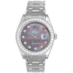 Rolex Platinum Masterpiece Pearlmaster Day Date Automatic Wristwatch Ref 18946