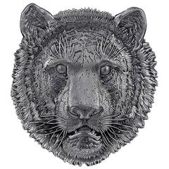 Buccellati Sterling Silver Lion Head Tray