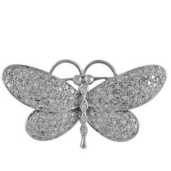 Diamond White Gold Butterfly Barrette