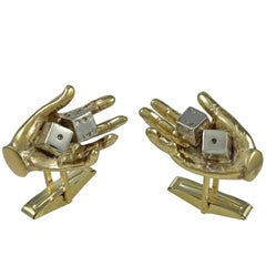 Gold Gambling Cufflinks