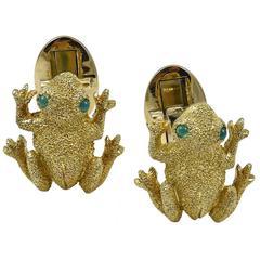 Gold Frog Cufflinks