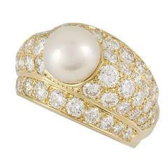 Cartier Diamond Pearl Ring