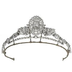 Art Deco Diamond Set Convertible Tiara in Garrard's Box