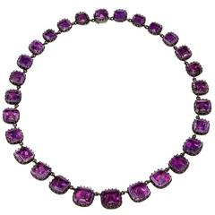 English Georgian Amethyst Rivière Necklace