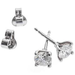 Platinum 1.00 Carat Solitaire Earrings