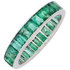 Natural Emerald Eternity Band