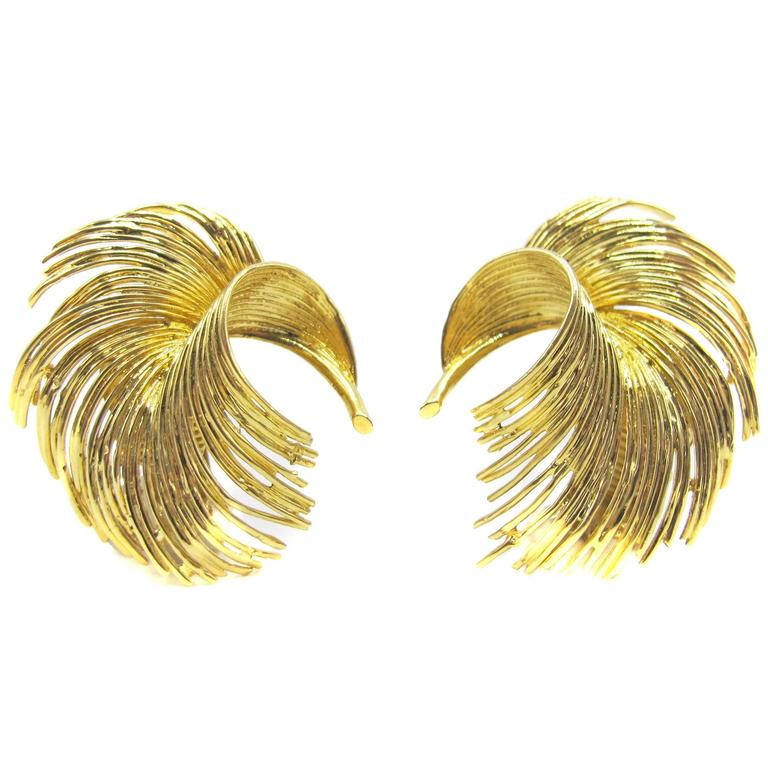 Tiffany & Co. 1960s Gold Ear Clips For Sale
