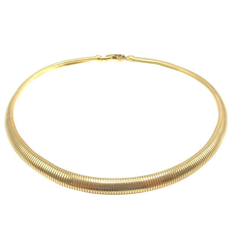 Tiffany & Co. Retro Gold Necklace For Sale