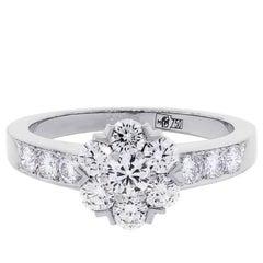 Van Cleef & Arpels Fleurette Diamond White Gold Ring