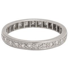 Art Deco 0.42 Carat Diamond Platinum Eternity Ring