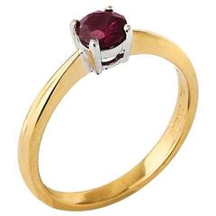 18 Carat Gold Solitaire Ruby Ring