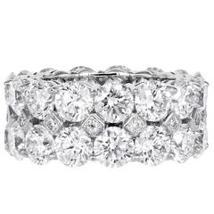 14.27 Carat Double Row Diamond Band Ring