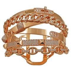 Hermes Alchemie Diamond Gold Bracelet