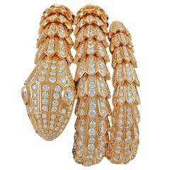 Bulgari Diamond Gold Serpenti Bracelet