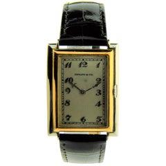 Tiffany & Co. by Jurgensen White and Rose Gold Art Deco Handmade Watch