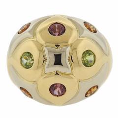 Bulgari Gold Multi Gemstone Dome Ring