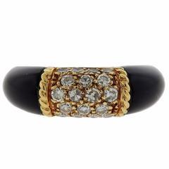 1960s Van Cleef & Arpels Onyx Diamond Gold Ring