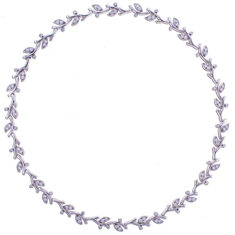 Tiffany & Co. Garland Diamond Platinum Garland Necklace