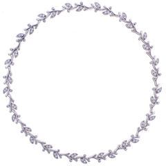 Tiffany & Co. Garland Diamond Platinum Garland Necklace