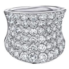 7.00 Carat Micro Pave Diamonds Gold Ring