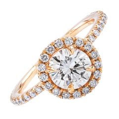 Brilliant Round Diamond Gold Engagement Ring