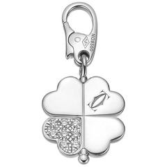 Cartier Diamond White Gold Clover Charm