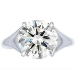 GIA Certified Carat Triple Excellent Diamond Solitaire Ring