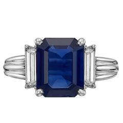 2.76 Carat Sapphire Diamond Ring