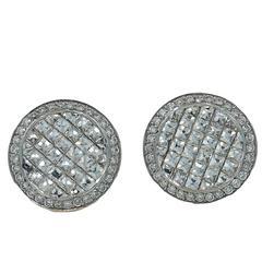 18 Karat White Gold Bez Ambar Diamond Earrings