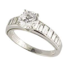 Van Cleef & Arpels Round Brilliant Cut 1.03 Carat Diamond Ring
