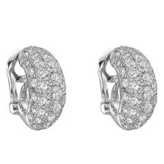 Platinum Diamond Half Hoop Earrings