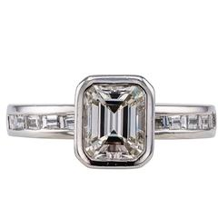 1.08 Carat Emerald Cut Diamond Engagement Ring