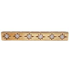Diamond Bar Pin Yellow Gold