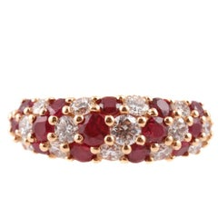 Oscar Heyman 1.11 Carat Ruby 0.87 Carat Diamond Yellow Gold Ring
