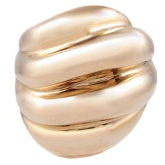 Yellow Gold Polished Fluted Form Ring