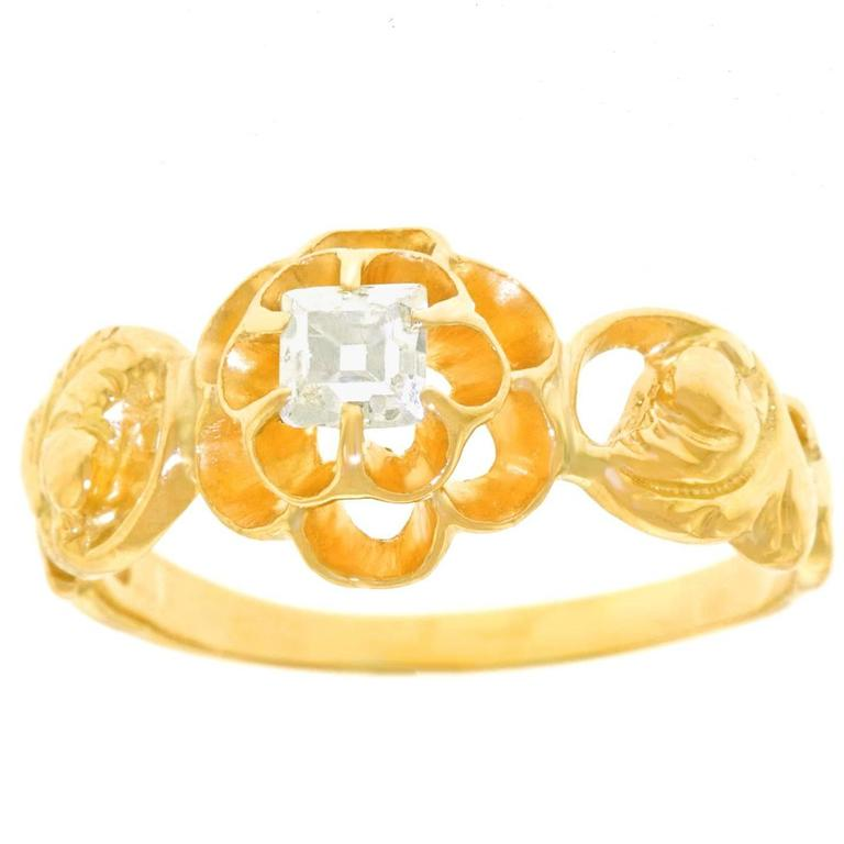 Art Deco Diamond-Set Yellow Gold Ring
