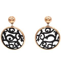 Mattioli Rose Gold Ebony Siriana Earrings