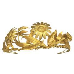 Hermes Vermeil Floral Tiara