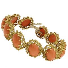 Luise Gold Coral Clamper Bracelet