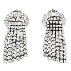 d924f84aa 1960s Tiffany and Co. Seed Pearl Black Onyx Diamond Platinum Tassel ...