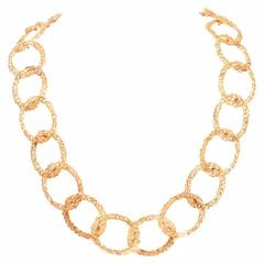 1960s Tiffany & Co. Gold Intertwined Chain Opera Length Necklace