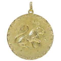 Leo Gold Pendant Charm
