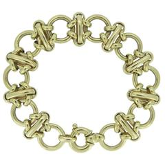 Vintage Gold Bracelet, circa 1990s, Contemporary Style