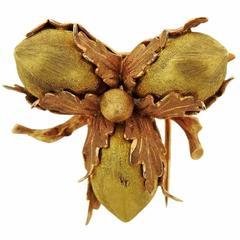 Buccellati Acorn Gold Brooch Pin
