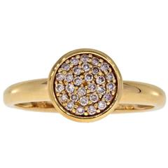Rose Gold Natural Fancy Light Pink Diamond Pave Cluster Bezel Ring