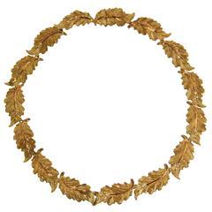 Buccellati Yellow Gold Foliate Necklace