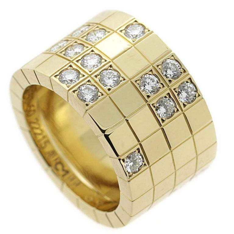 Cartier Lanieres Diamond Gold Band Ring