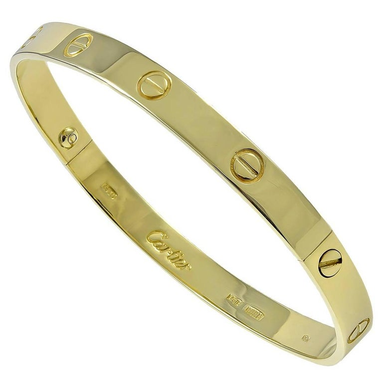 Cartier Aldo Cipullo Gold Love Bracelet