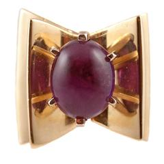 Amethyst Yellow Gold Ring