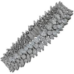 Tiffany & Co. 20 Carat Diamond Platinum Bracelet